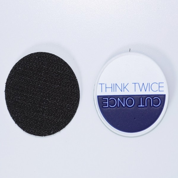 """Chris Reeve Patch """"Think Twice"""""""